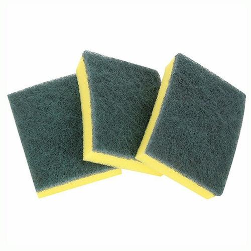 Esponja Cozinha Dupla Face Verde Amarela Pacote Com 10 Ober