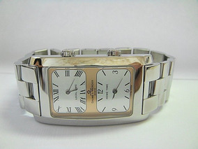 Baume & Mercier Hampton Dual Time Aço 100% Original