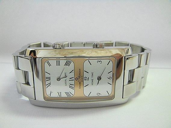 Baume & Mercier Hampton Dual Time Aço 100% Original