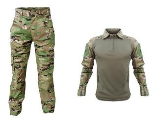 Farda Militar Tática Masculina Multicam Camisa + Calça Cargo