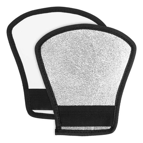 Rebatedor Universal De Flash Speedlite Canon/nikon/sony/fujifilm Duplaface Prata/branco Pronta Entrega-