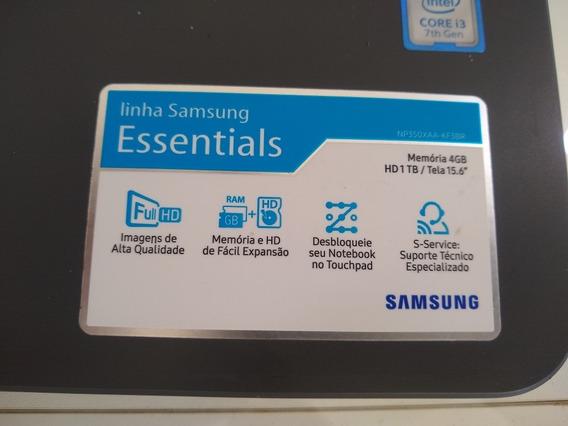 Notebook Samsung Essentials, Hd1tb, Memória De 4 Gb, Tela 15
