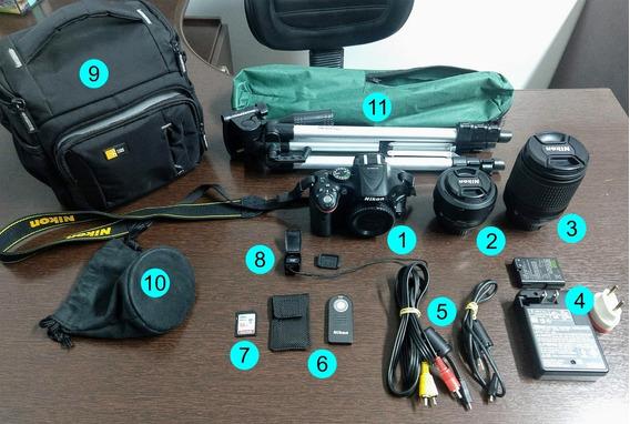 Kit Câmera Nikon D5200, Bolsa, Lente, Tripé E Acessórios