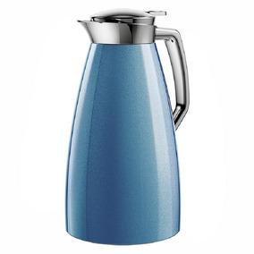 Emsa Garrafa Térmica Plaza Quick Press 1 Litro Emsa Azul Met