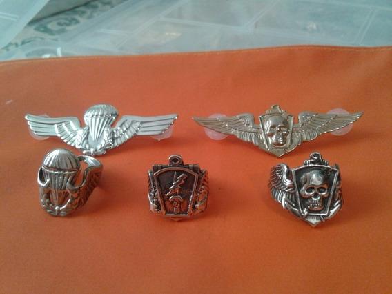 Anéis De Prata - Paraquedista Pqd Somente Essas Peças