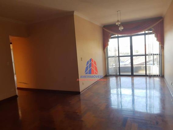 Apartamento Com 3 Dormitórios À Venda, 126 M² Por R$ 600.000 - Edifício Milano - Vila São Pedro - Americana/sp - Ap1207