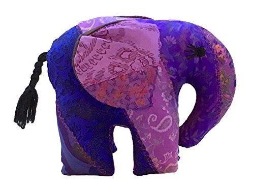 Elefante Relleno De Seda Sari Juguete Peluche Tamaño Grande