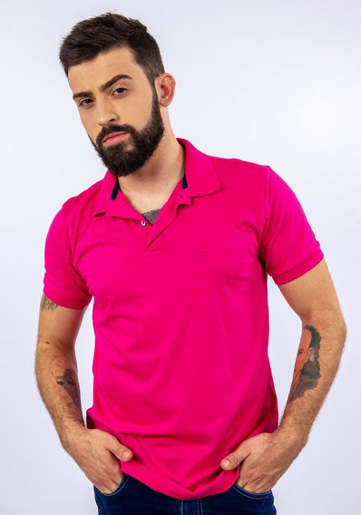 Camisa Polo Lupim Pink (rosa, G)