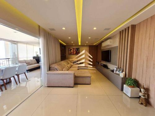 Imagem 1 de 30 de Lindo Apartamento No Condomínio Sólon Vila Rosália, 137m², 2 Dormitórios, Closet, 2 Vagas, Andar Alto. - Ap1266