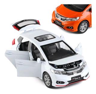 Miniatura Honda Fit 1:32 Barata 4portas C/ Acendimento Farol