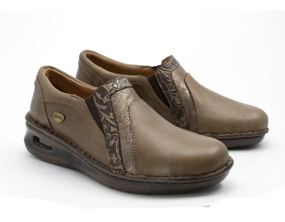 Zapatos Zapatillas Mujer Cavatini Cuero Camara De Aire Pie Delicado