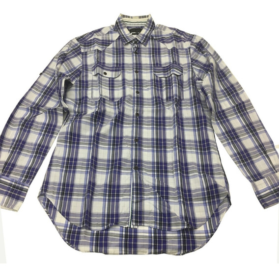 Camisa Cuadrille Zara Ropa y Accesorios Blanco en Mercado