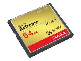Cartão Sandisk Compact Flash Extreme 64gb/120mb