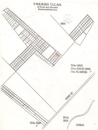 Imagen 1 de 1 de Large Land For Sale In Puerto Aventuras
