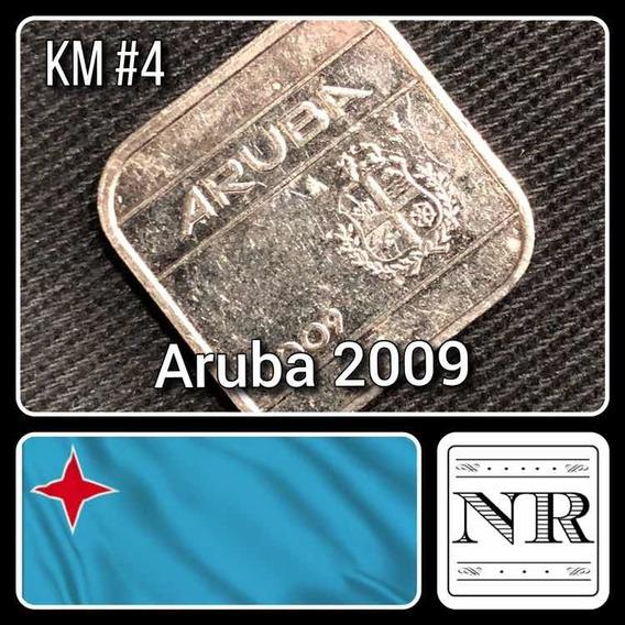 Aruba - 50 Cents - Año 2009 - Km # 4 - Cuadrada