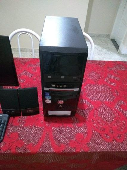 Computador Desktop (cpu + Monitor) + Caixa De Som E Teclado