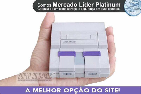 Mini Super Super Nintendo 2 Controles 8 Mil Jogos Ps1 + N64.