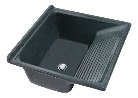 Tanque Simples Para Lavar Roupa 48l Decoralita Preto Da