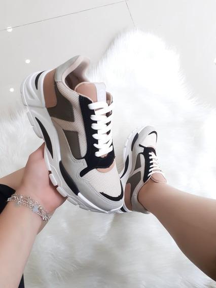 Tênis Feminino Sapatenis Via Marte Camurça Sneaker Recorte