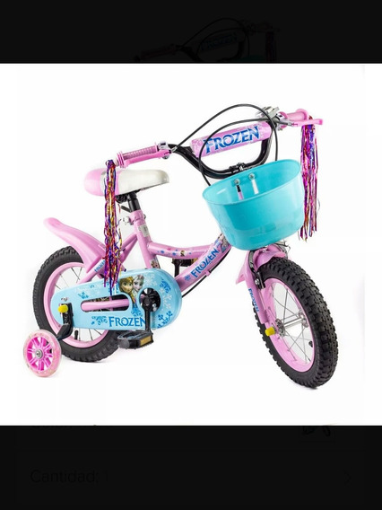 Bicicleta Niñas Frozen Rin 12 Juguetes Muñecas Disney