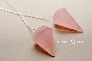 Piedra Péndulo De Cuarzo Rosa