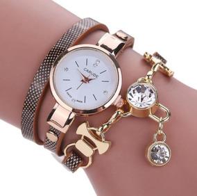 Relógio Carude Feminino Bracelete Pulseira Pingente + Caixa