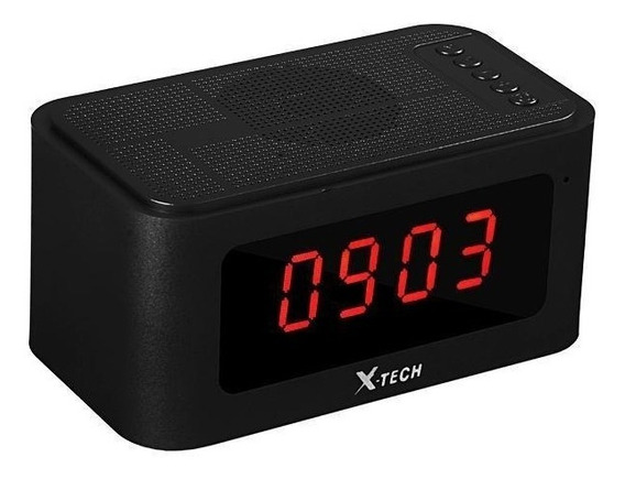 Radio Relogio Digital X-tech Bluetooth Usb Sd Fm