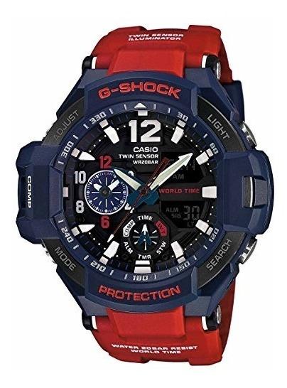 Reloj Casio G-shock Ga-1100 Gravitymaster Elegante Azul