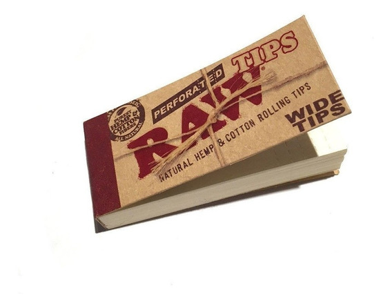 Kit 20 Piteira Raw Wide Perforated - Pronta Entrega