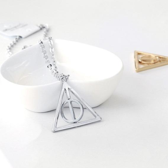 Colar Reliquias Da Morte Com Centro Giratório - Harry Potter