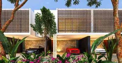 Preventa En Montes De Ame, Nuevo Desarrollo De Townhouses En Privada En Mérida Zona Norte