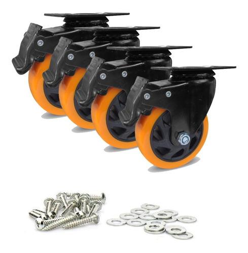 Rodachines De 5 Giratorio Con Freno 140k Por X 4 Unidades