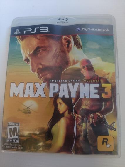 Max Payne 3 Ps3 Midia Física Semi Novo