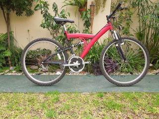 Bicicleta Mountain R26 16 Cambios Amortiguadores Del Y Tras