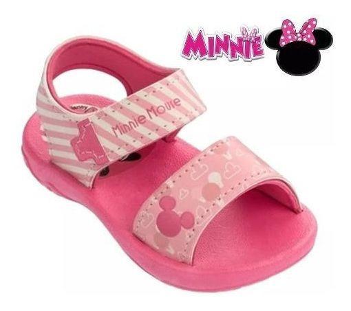 Sandália Infantil Mickey Minnie Menina Grendene Kids Modelo Super Estiloso Confortável Super Estabilidade Pés Delicados