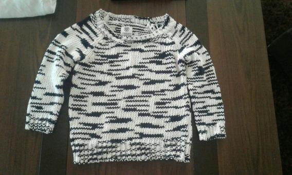 Sweater American Eagle Blanco Azul Nuevo