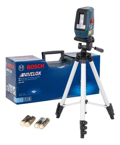 Imagem 1 de 5 de Nível Laser 3 Linhas Vermelhas 15m Bosch Nivelox Gll3x