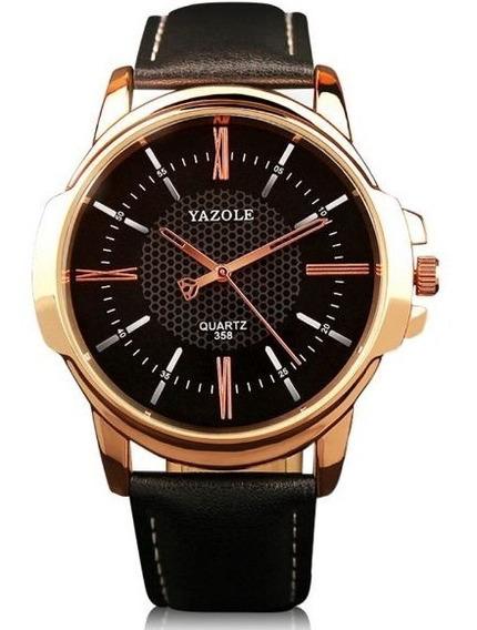 Relógio Masculino Luxo Esportivo Pulseira Couro