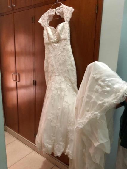 Vestido De Novia Talla M, Diseño Español