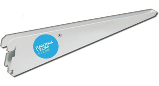 10 Mensula Estanteria Reforzada 37cm Doble Enganche P/ Riel