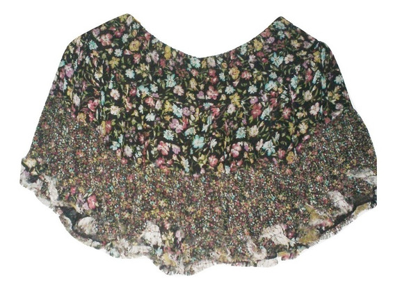 Sexy Falda Corta Mini Circular Flores Encajes Talla G $390a