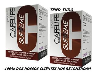 2 Cafelife Omnilife - Slim Fit Seca Barriga - Super Promoção