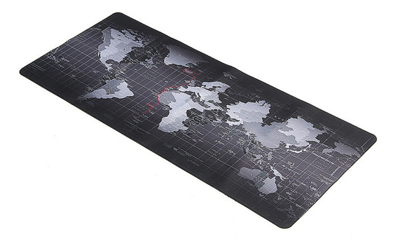 900x400mm World Map Computador Gaming Mousepad Grande Veloci