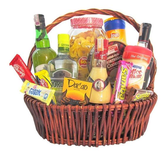 Cesta De Ron Santa Teresa Gran Reserva Gordons Whisky Samba