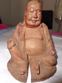 Buda Vintage Figura Tallado En Madera