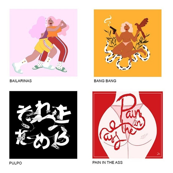 Stickers Cuadrados - 3x$60