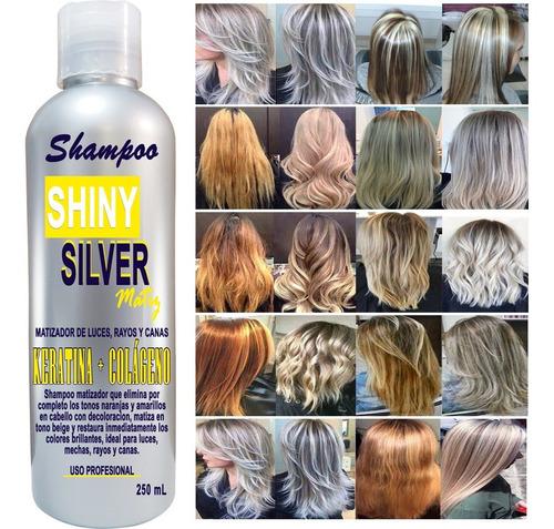 Imagen 1 de 3 de Shampoo Matizador Silver 250ml Cabello Rubio