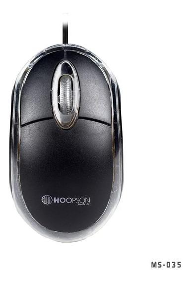Mouse Óptico Usb 1000 Dpi Preto Ms-035 Atacado