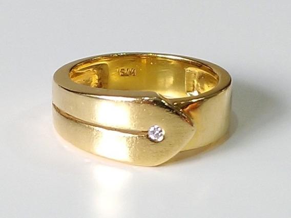 Anel De Ouro 18 K. Peso 6,5 Gramas, Aro 17