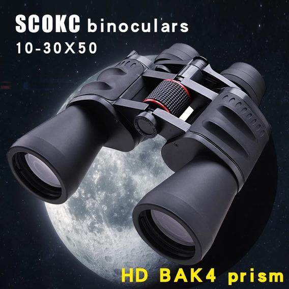 Binóculos Scokc 10-30x50 Power Zoom Caça Profissional
